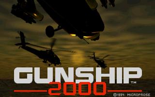 Gunship 2000 CD32 Titelbildschirm