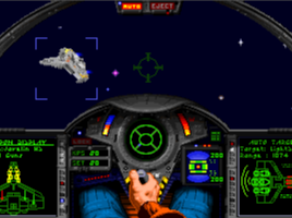 Hellcat V cockpit and ship in Wing Commander Academy